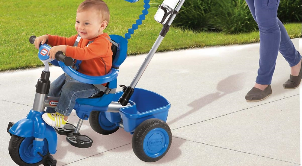 Little Tikes - 4-in-1 Trike Basic Edition - Blue is rated out of 5 by Rated 5 out of 5 by Trucustomer from Exactly what I expected Kid loves it. Pedals are a little farther out compared to a regular trike (which he rides at daycare) but otherwise performs as expected.