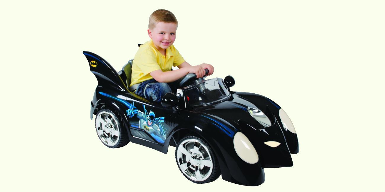 batman batmobile 6v electric ride on car