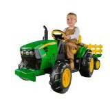 Peg Perego John Deere Ground Force Tractor & Trailer