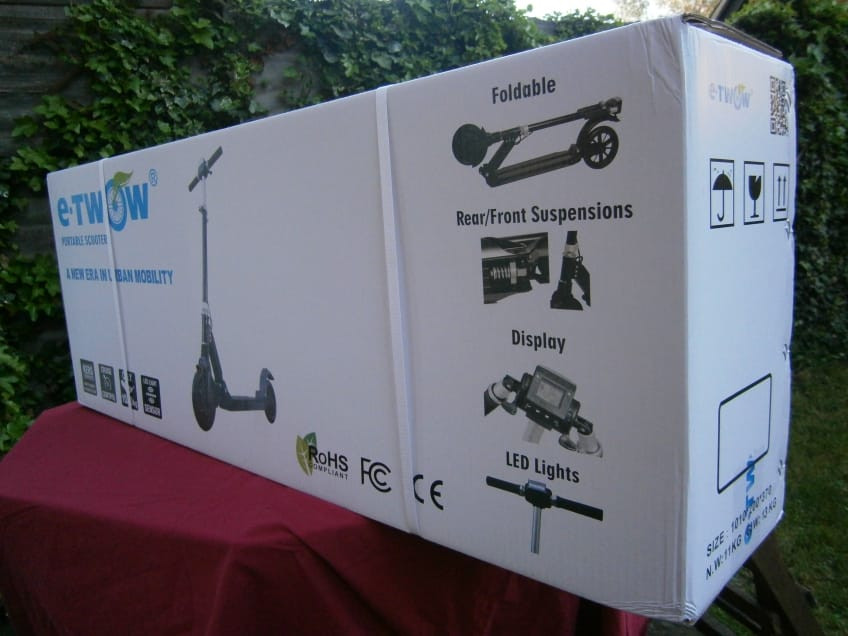 Very Good Box For The E-Twow S2 Electric Scooter In This Review