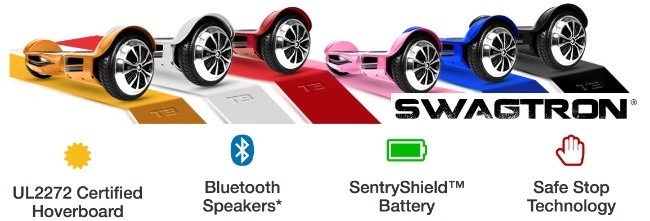 Swagtron T3 UL 2272 Certified Bluetooth Hoverboard