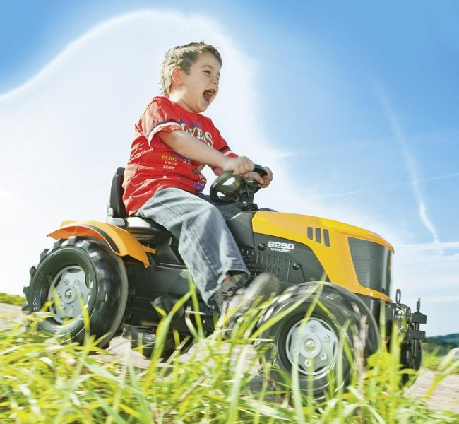 Black Friday Best Discounted Rolly Ride-On Farmtrac Pedal Tractor JCB