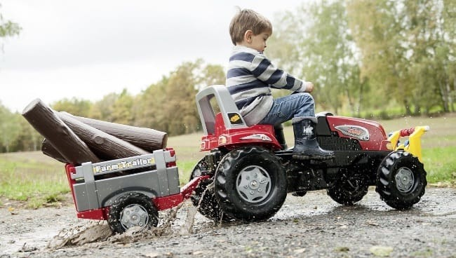 Buy Rolly Toys Red Junior RT Pedal Tractor with Farm Trailer