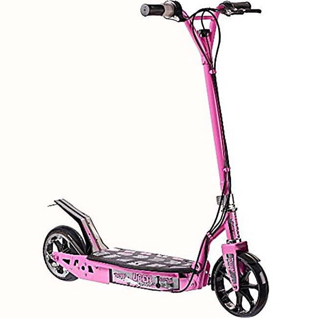 Uber scoot best kids pink electric scooter 100w 24v 10Ah