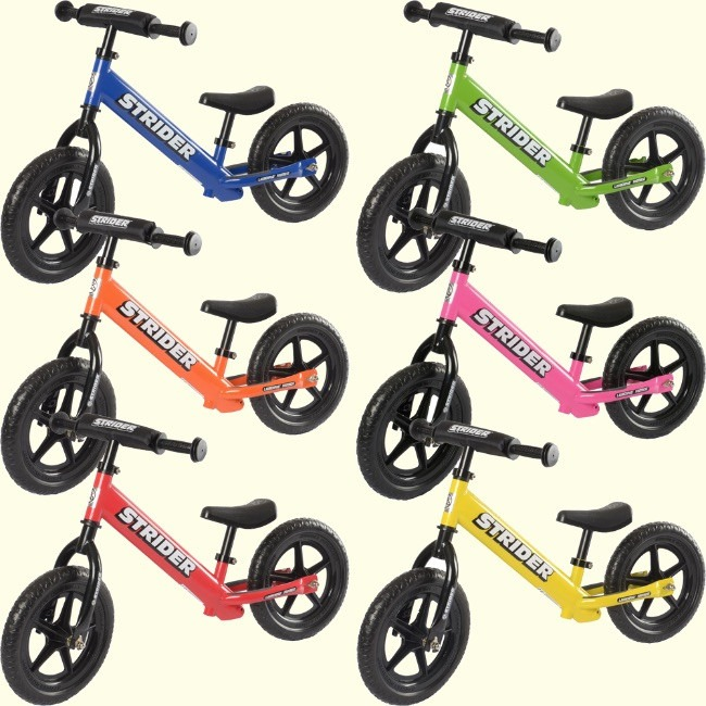 Many colors are available of Strider 12 Sport Balance Bikes
