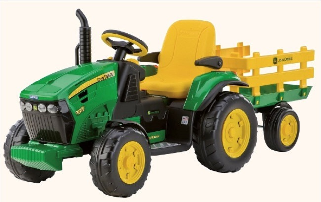 12v John Deere Ground Force Kids Tractor And Trailer by Peg Perego
