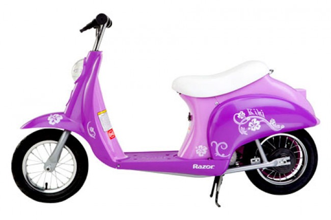 Best Kids Electric Retro Scooter Pink and Purple Model Razor Pocket Mod Review