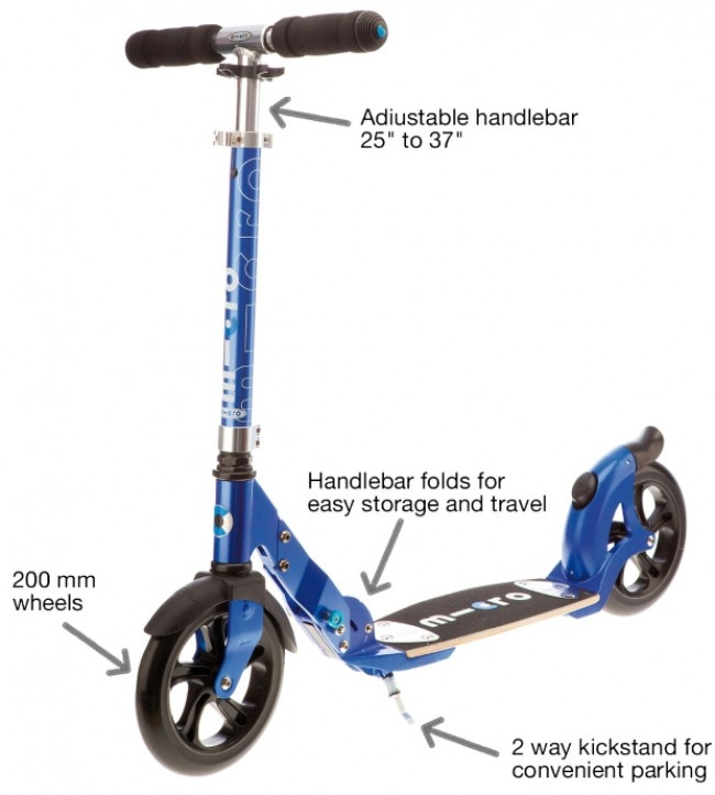 The Micro Flex Blue 200mm is the Highest Quality Adult Scooter Review