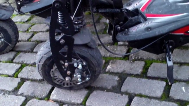 Best Adult Electric Scooter Brakes and Front Wheel Uberscoot Review