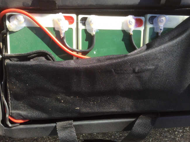 Battery Compartment of The Turbo Chrome Adult Electric Scooter