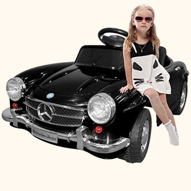 Mercedes benz sl300 style kids electric ride on car review for Mercedes benz toddler car